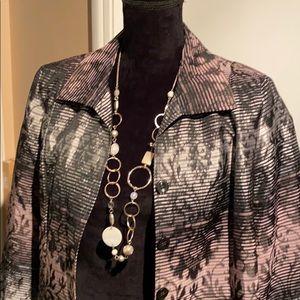 12P- NWOT Unique Stunning Metallic TANJAY Jacket!!